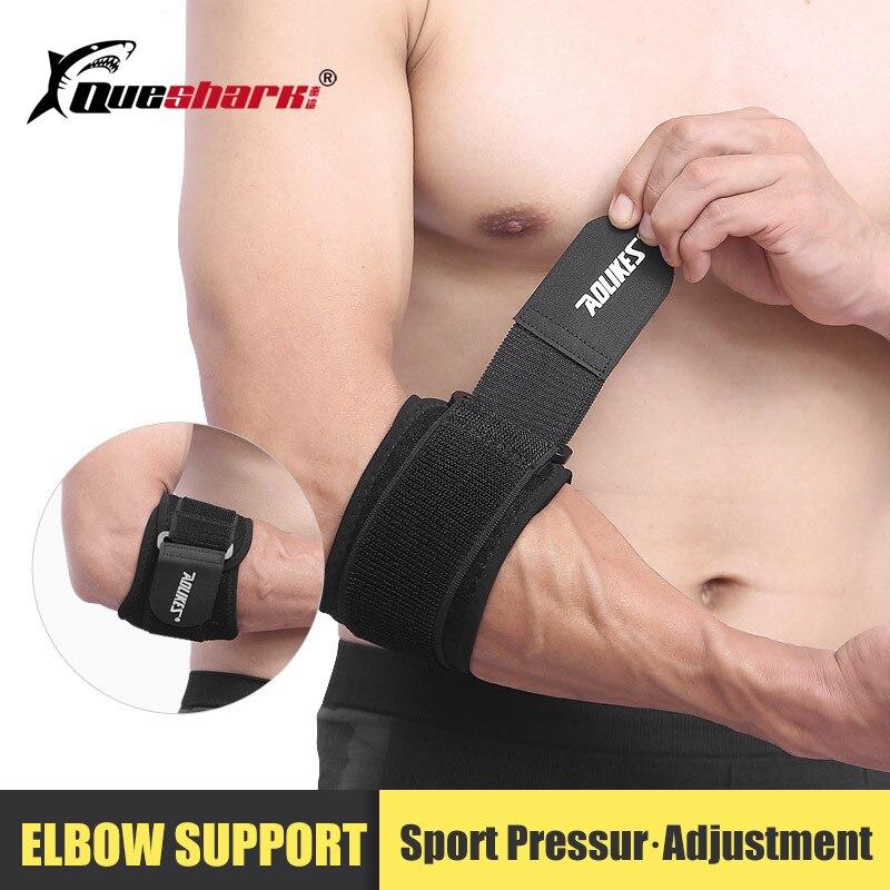 1 unidad de codo ajustable para bádminton, bádminton, tenis, Golf, correa de golfista, síndrome de dolor Lateral, Epicondylitis, soporte de codo