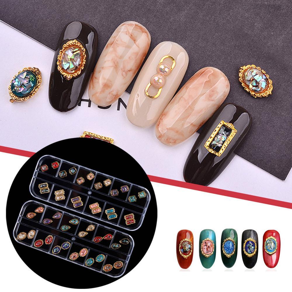 Conjunto de pegatinas para decoración de uñas, accesorios de uñas en caja...