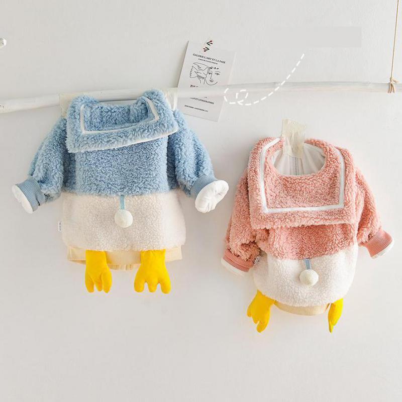 Kids Baby Girls Winter Warm Thicken Long Sleeve Cartoon Splice Zipper Tops Coat Jacket Toddler Clothing Boys Outwear 9M-4T