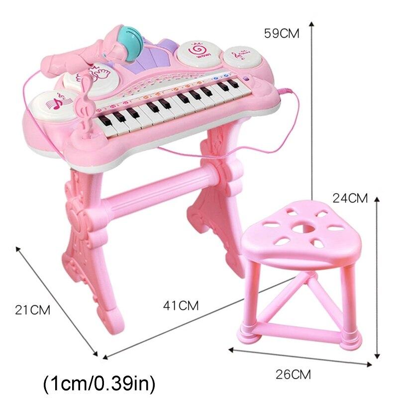 multifuncional 24 teclas teclado eletronico piano orgao brinquedo criancas instrumento