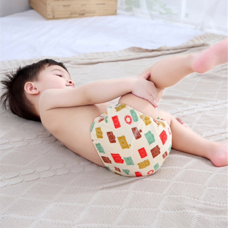 6 Layer Waterproof Reusable Cotton Baby Training Pants Infant Shorts Underwear Cloth Baby Diaper Nappies Panties Nappy Changing