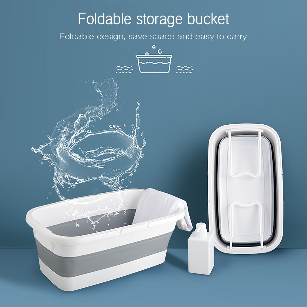 Portable Collapsible Wash Basin Mop Bucket Foldable Bucket Fishing Retractable Basin Camping Car Wash Bucket Home Outdoor Tools
