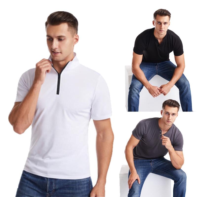 Camiseta de manga corta con cuello de pico para hombre de camiseta...