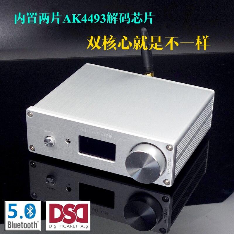 Brisa SU9 Dual Core AK4493 DSD Bluetooth USB Fibra Coaxial DAC Decodificador Integrado