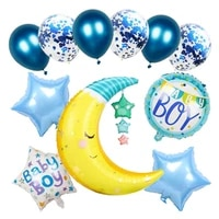 boys girls mylar foil balloons newly born decoration party supplies accessory moon baby home decor