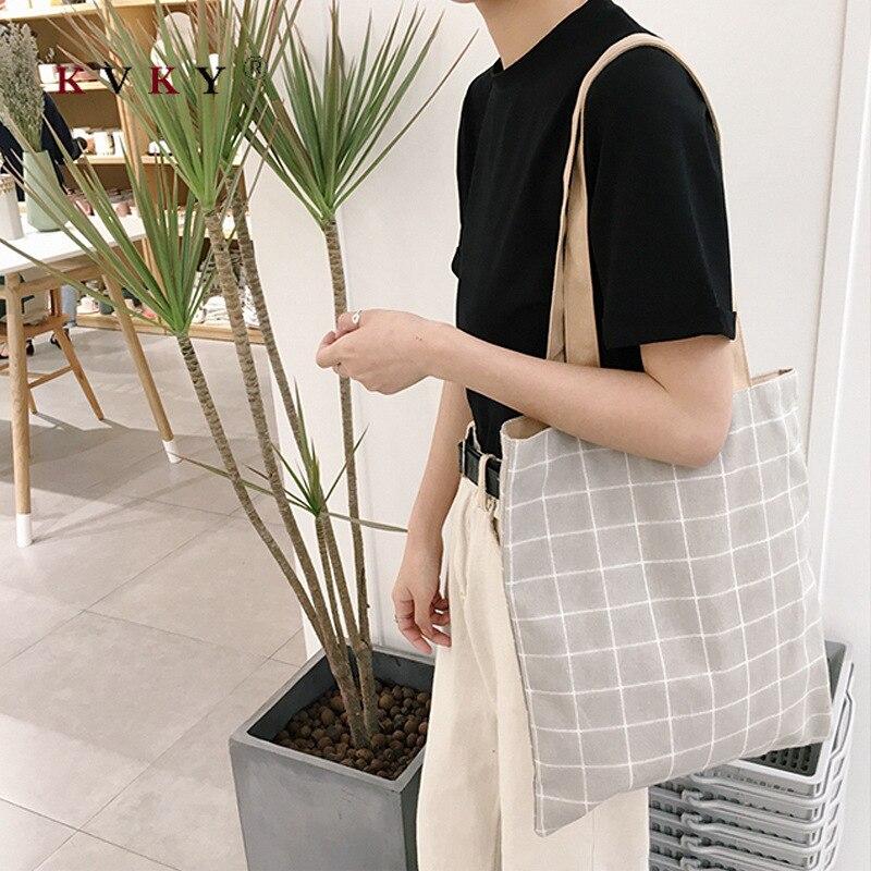 Moda feminina grande capacidade de lona tote sacos bolsa feminina eco saco escolar shopper senhoras casual bolsa de compras reutilizável