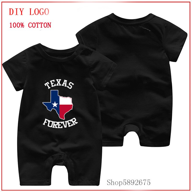Texas Forever by Basement Mastermind printed romper 2020 Newborn Baby Clothes pure cotton Summer Rom