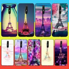 CUTEWANAN Love Paris tour Eiffel nouvellement arrivé coque de téléphone portable noir pour Oppo A5 A9 2020 Reno Z Realme5Pro R11 étui