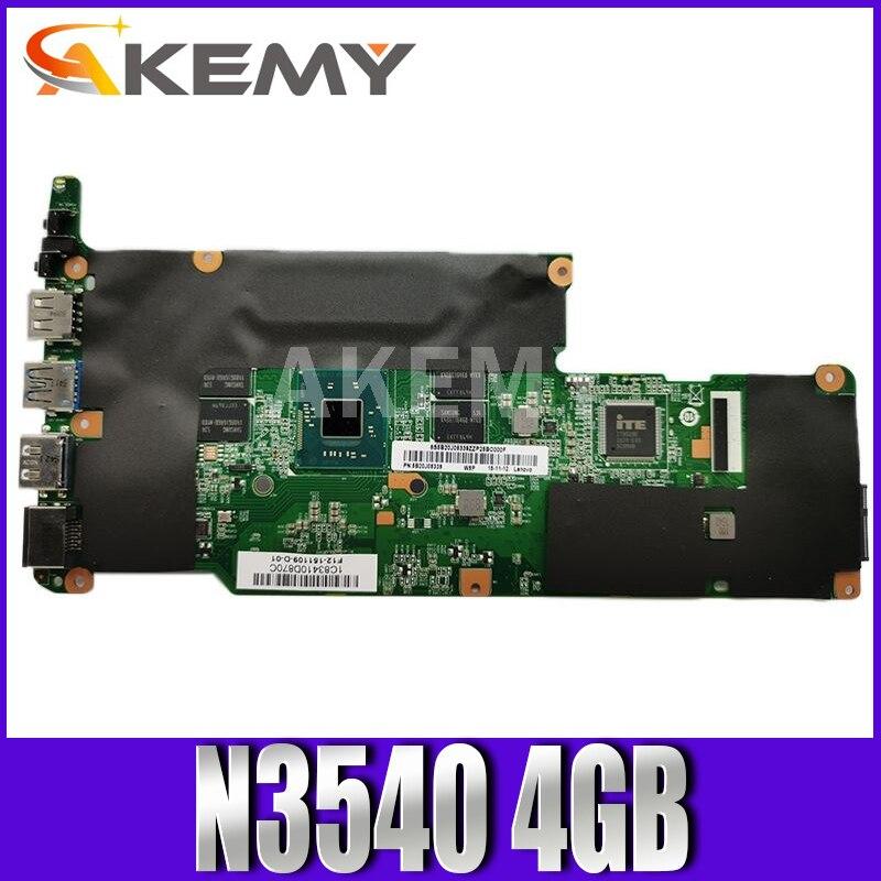 Akemy لوحة أم لينوفو فليكس 3-1120 يوغا 300-11IBY لوحة أم للكمبيوتر المحمول 80LX 80M0 CPU:N3710 RAM:4GB