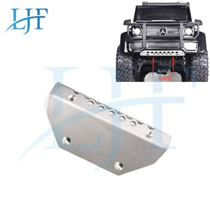 LJF Metal Stainless Steel TRX4 Front Chassis Armor Protector Plate for 1/10 RC Crawler Traxxas TRX-4 G500 TRX-6 6x6 L137