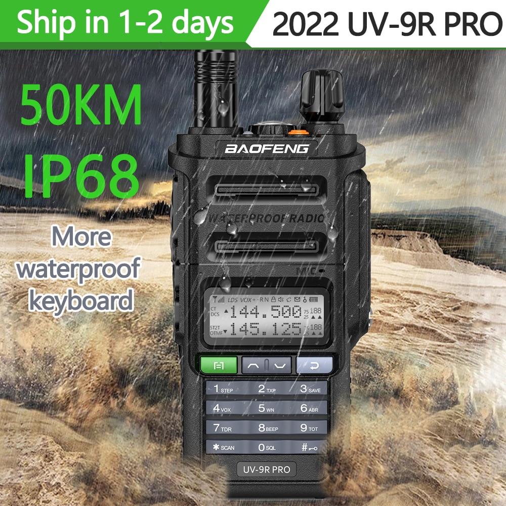 2022 Baofeng UV-9R plus Waterproof IP68 Walkie Talkie High Power CB Ham 30-50 KM Long Range  UV9R portable Two Way Radio