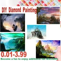 diamond painting landscape 5d diy stone in hand full square round diamond mosaic cross stitch home decoration gift