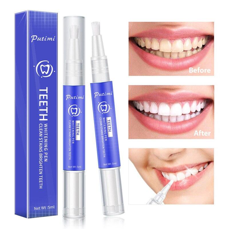 Putimi caneta limpa dentes frescos para remover os dentes amarelos e fumaça dentes iluminar os dentes limpar as manchas dos dentes