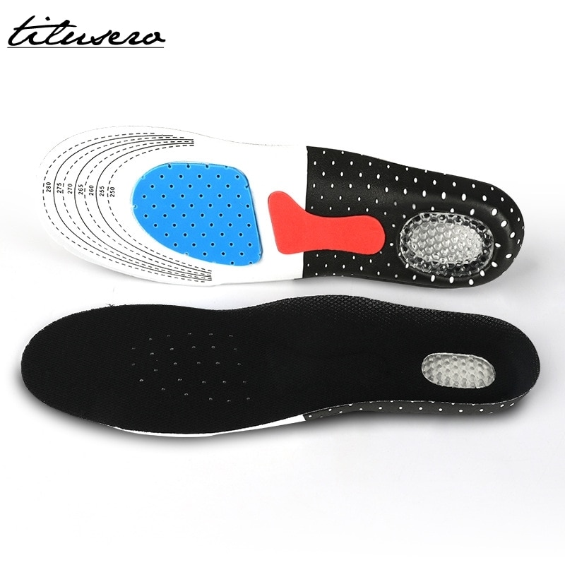 Cuttable Silicone Shoe Insoles Free Size Men Women Orthotic Arch Support Sport Shoe Pad Soft Running