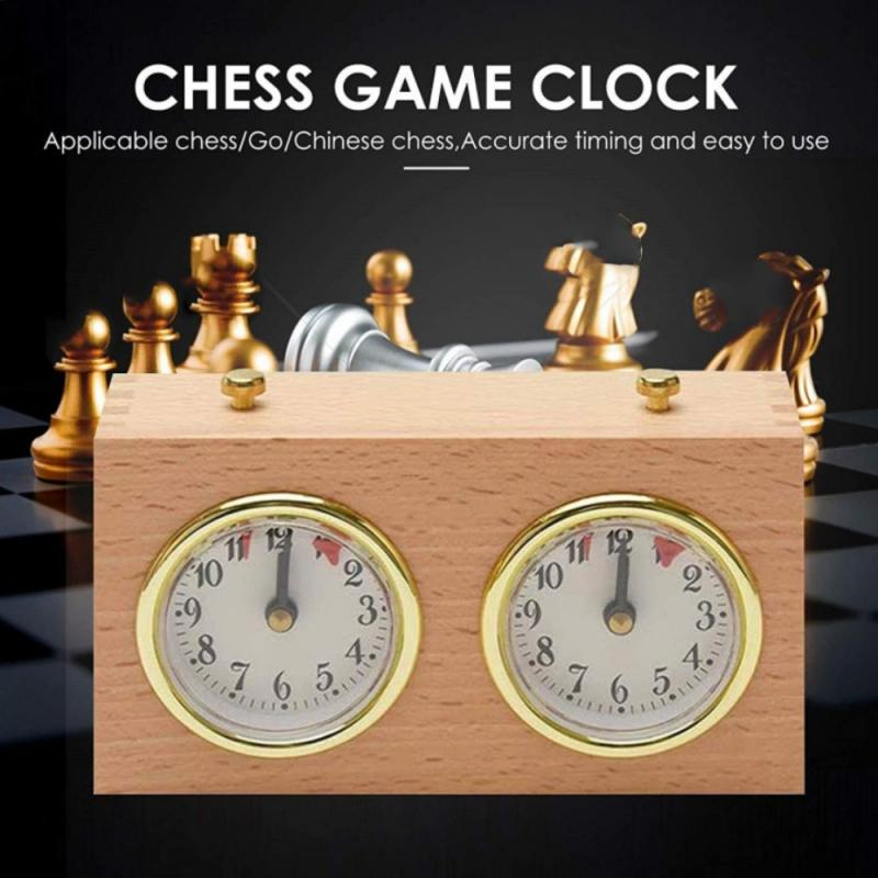 Retro Mechanical Chess Game Clock Retro Wooden Shell Mechanical Chess Clock Alarm Clock Non Ticking Noise With Led Snooze Light