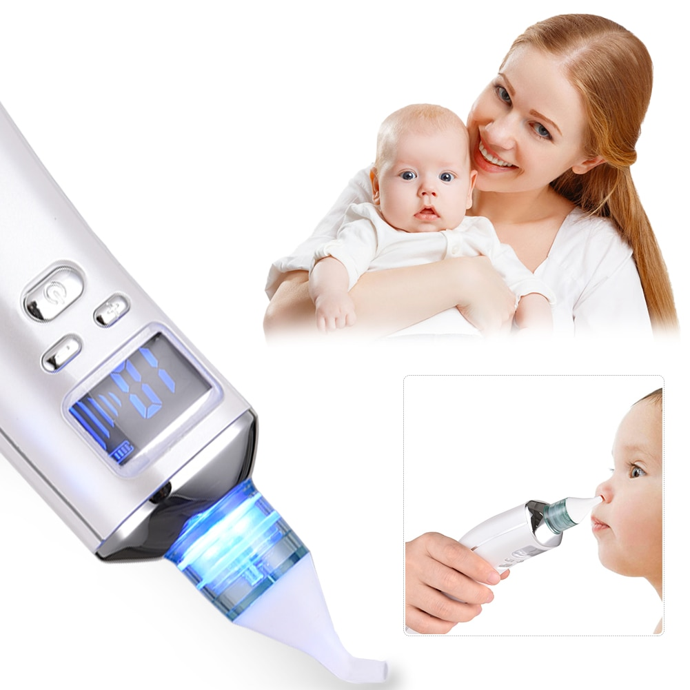 Baby Electric Nasal Aspirator Nose Cleaner Rechargeable Newborn Nasal Congestion Nasal Suction Device