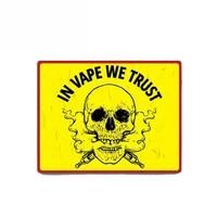 vape we trust car sticker vinyl auto accessories car window car styling decal pvc 13cmx10cm cover scratches waterproof
