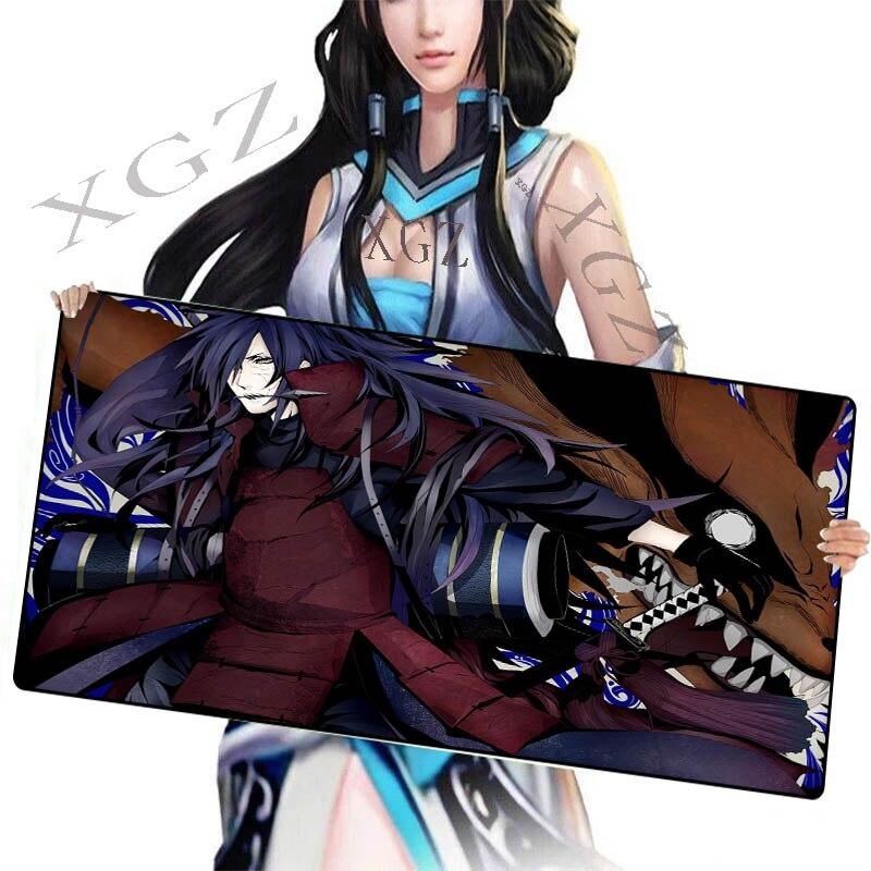 Alfombrilla para mesa XGZ, Alfombrilla de ratón grande personalizada de Naruto, Devil Assassin, Borde de bloqueo negro, para ordenador, modelo Xxl