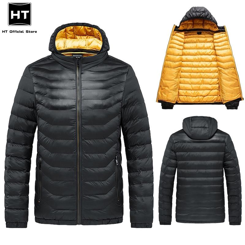 Men Hooded Jacket 2021 Winter New Casual Warm Thick Waterproof Jackets Parkas Coat Detachable Hat Au