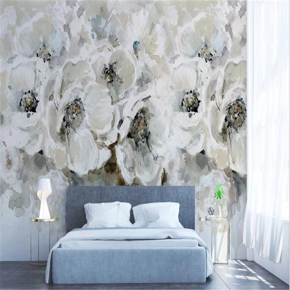 Milofi пользовательские фото обои украшение дома Европейская роспись маслом роза цветок спальня гостиная ТВ Фон Стена