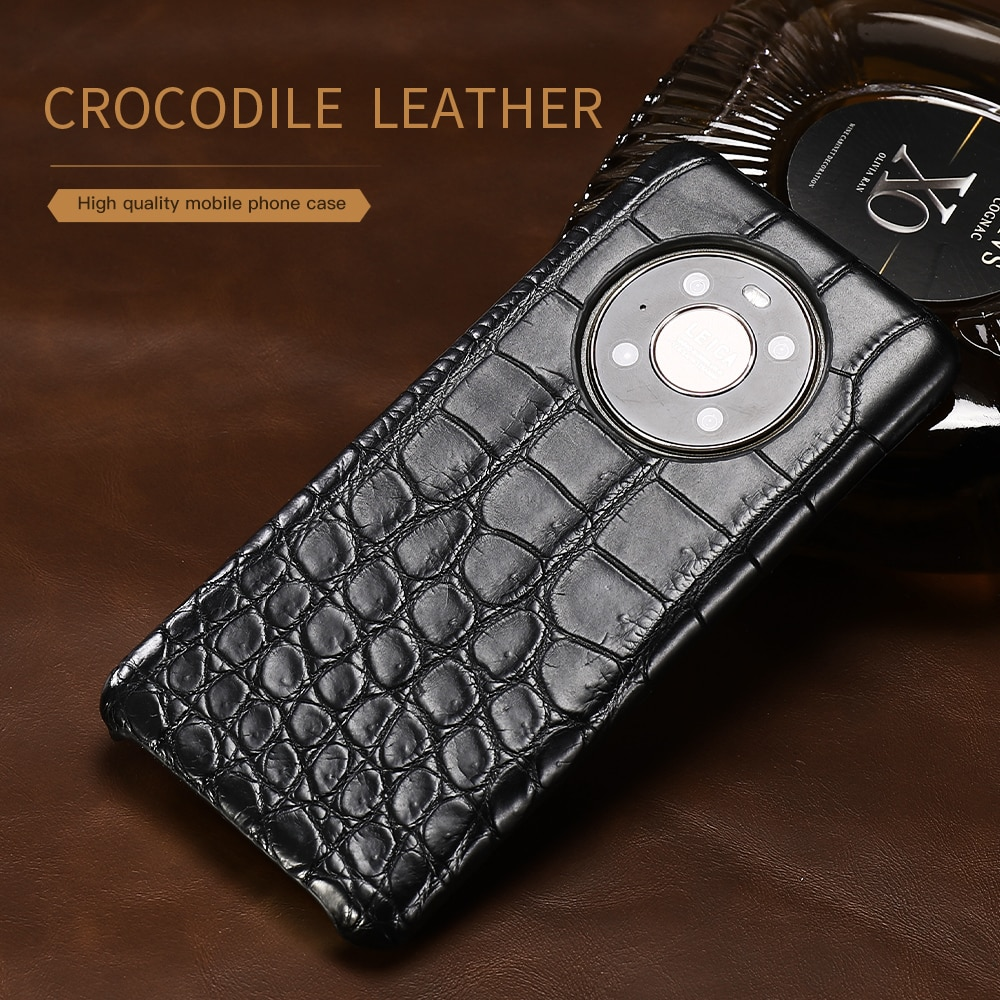 100% Natural Crocodile Leather Phone Case for Huawei Mate 40 Pro Plus Mate 20 Lite 20 pro P20 P30 P40 P50 Pro P40 Lite Nova 5T