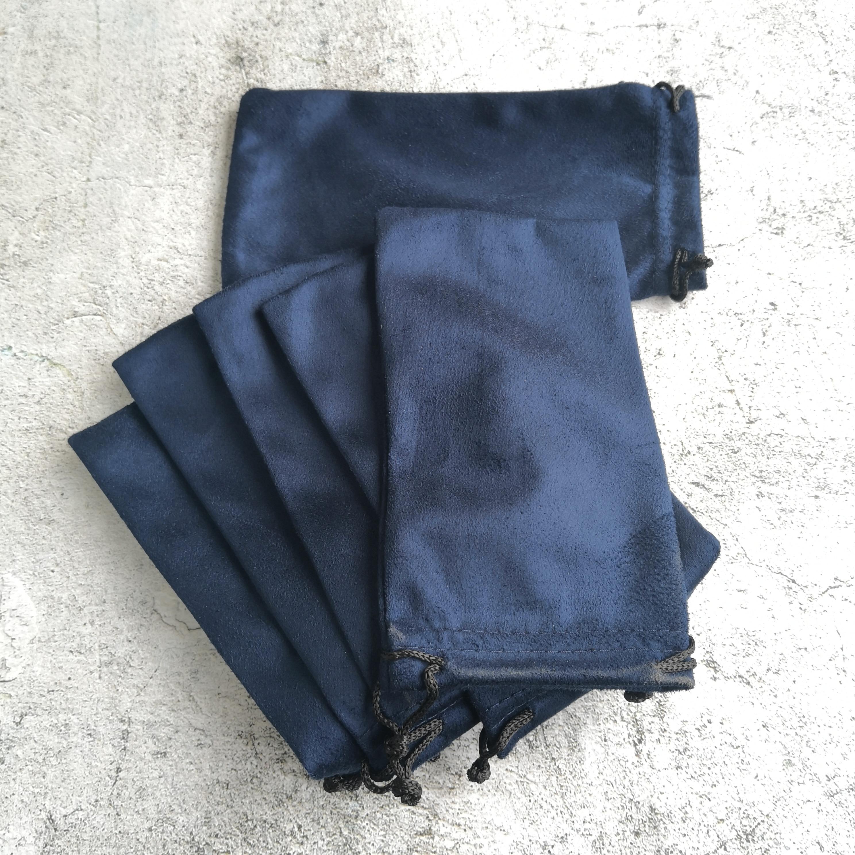 LANBO 50 pcs 18*9.5cm Pouch Bag Glasses Case Soft Eyewear Charpie Cloth Bag Wholesale Spectacle Sunglasses Case Blue Color S27