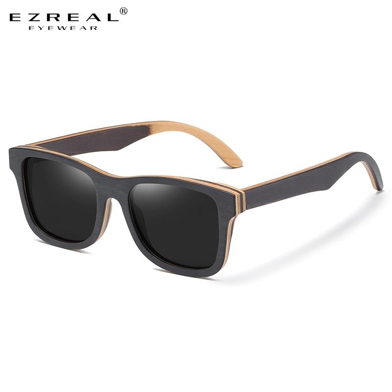 Солнцезащитные очки GM натуральные деревянные солнечные очки S6832 мужские, поляризационные, с деревянной оправой