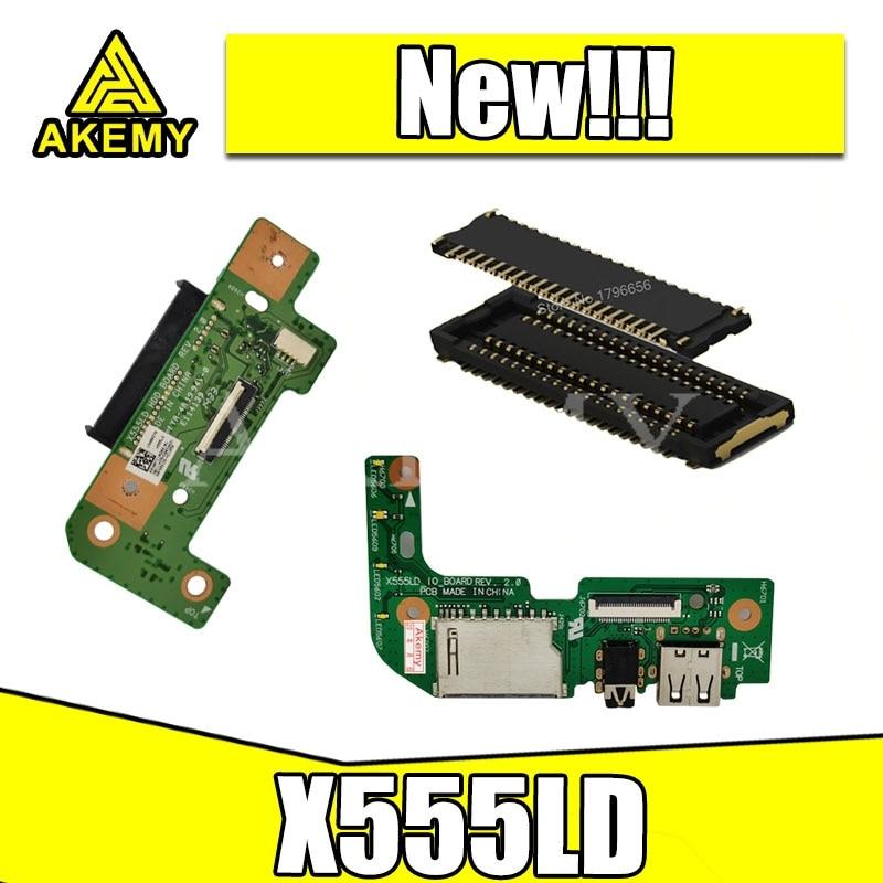 Para ASUS X555LD W519L K555L A555L X555LJ R556L X555LB X555LP F555L X555LN placa de Interface e HDD Hard Drive e IO USB AUDIO