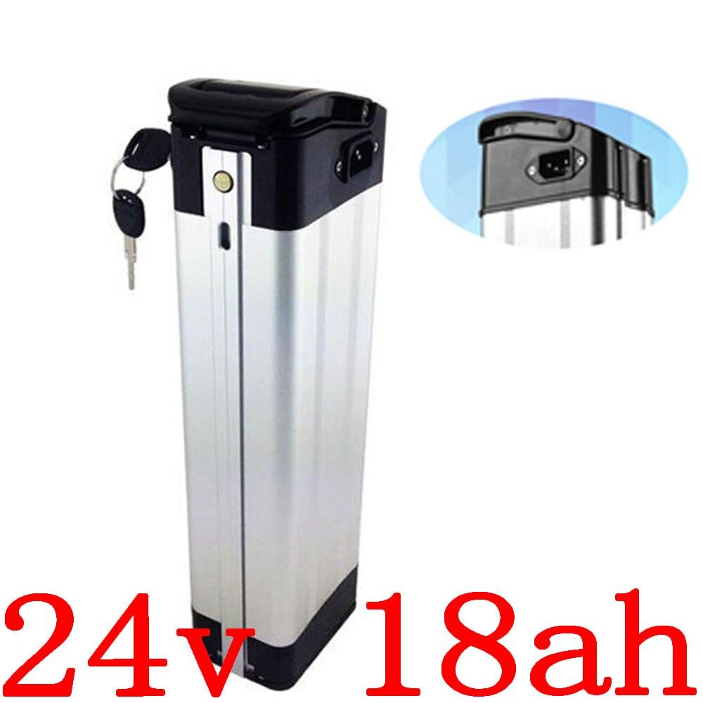 Batería de 24V 24V 18 Ah Batería de bicicleta eléctrica 24v 10ah 13ah 15ah 18AH 20ah batería de litio ajuste 24V 250W 350W Ebike motor