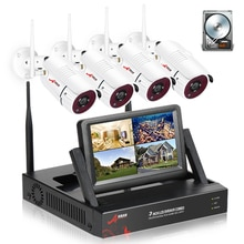 ANRAN 1080P Sistema di Telecamere di Sicurezza Built-in 7 pollici di Schermo 4CH Senza Fili Sistema CCTV Macchina Fotografica Impermeabile Esterna APP controllo IR-cut