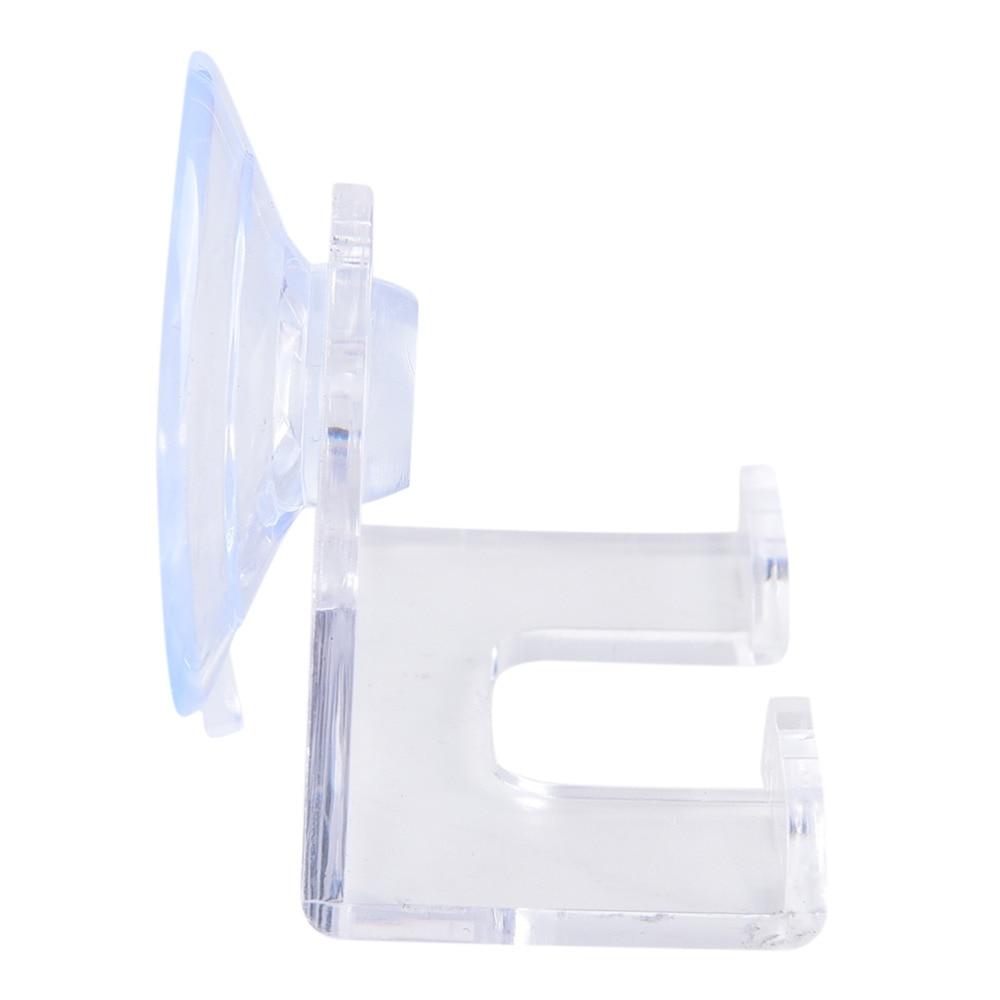 1 Pieza de plástico azul para afeitadora de baño soporte de maquinilla de afeitar delicado montado en la Pared Soporte de afeitadora Cupula tapas de afeitadora Rack gancho de afeitadora