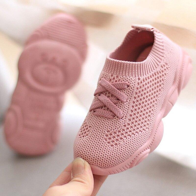 Детские кроссовки; Нескользящие Детские кроссовки с мягкой подошвой; Коллекция 2021 года; Повседневные кроссовки на плоской подошве; Детская ...