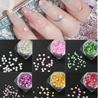 1box mocha fluorescence loose rhinestones mixed size round shape resin colorful nail art decoration falt back crystal stones