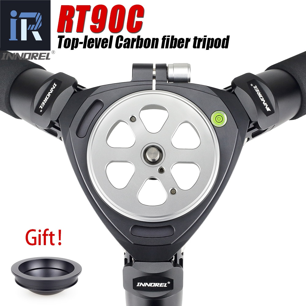 RT90C Professional Birdwatching 10-Layer Carbon Fiber Camera Tripod Compact Heavy Duty Bowl with 75mm & Adapter