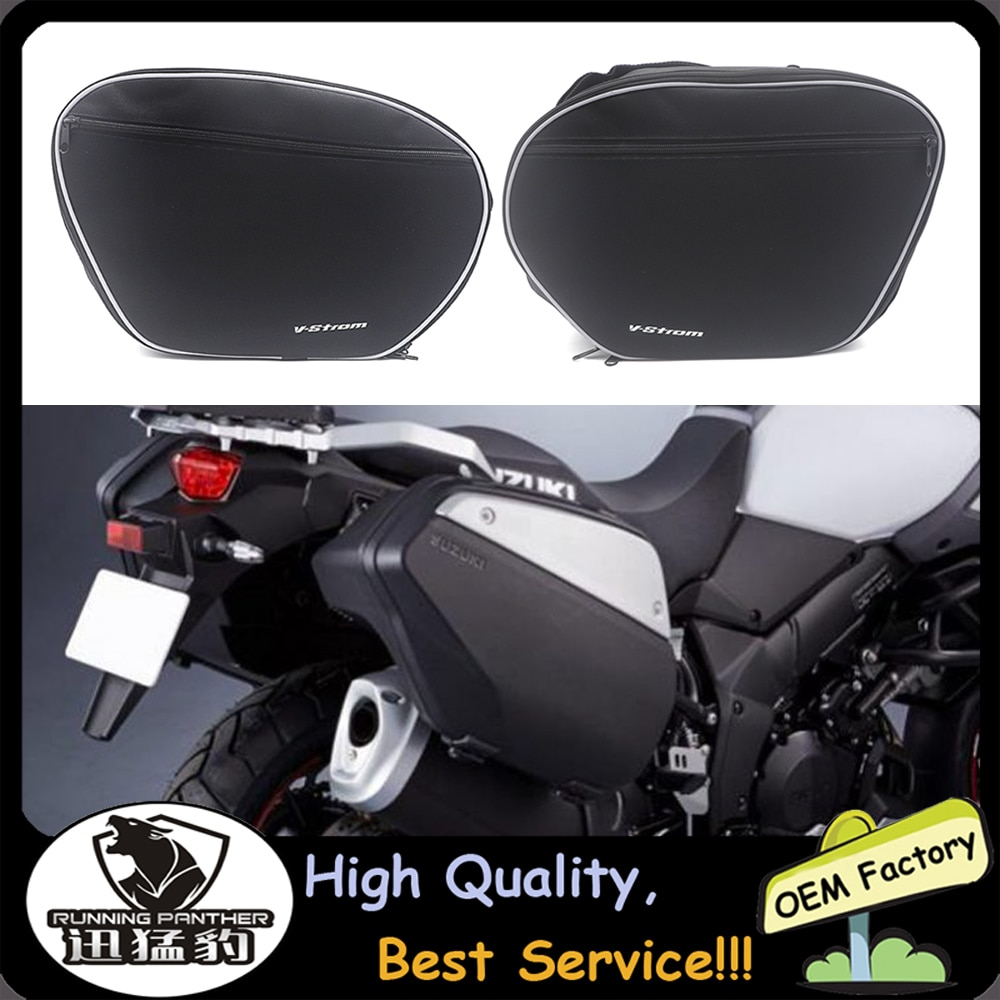 لسوزوكي V-STROM DL1000 DL 1000 فولت ستروم DL650 2014-2020 دراجة نارية حقائب الأمتعة توسيع أكياس الداخلية الأسود جذع الداخلية أكياس