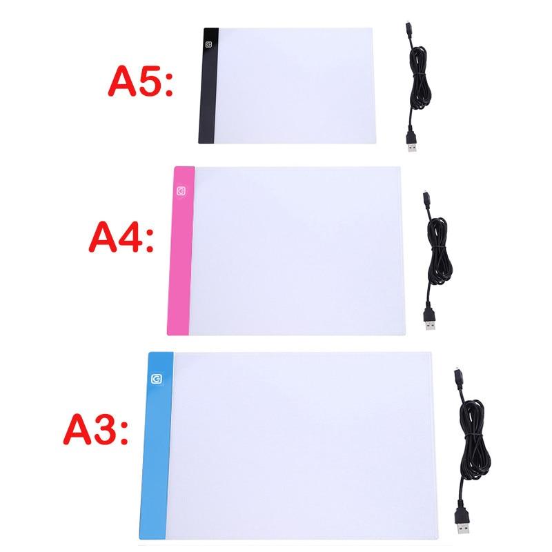 Almohadilla de luz Led regulable de tres niveles A3/A4/A5, tablero de dibujo,...
