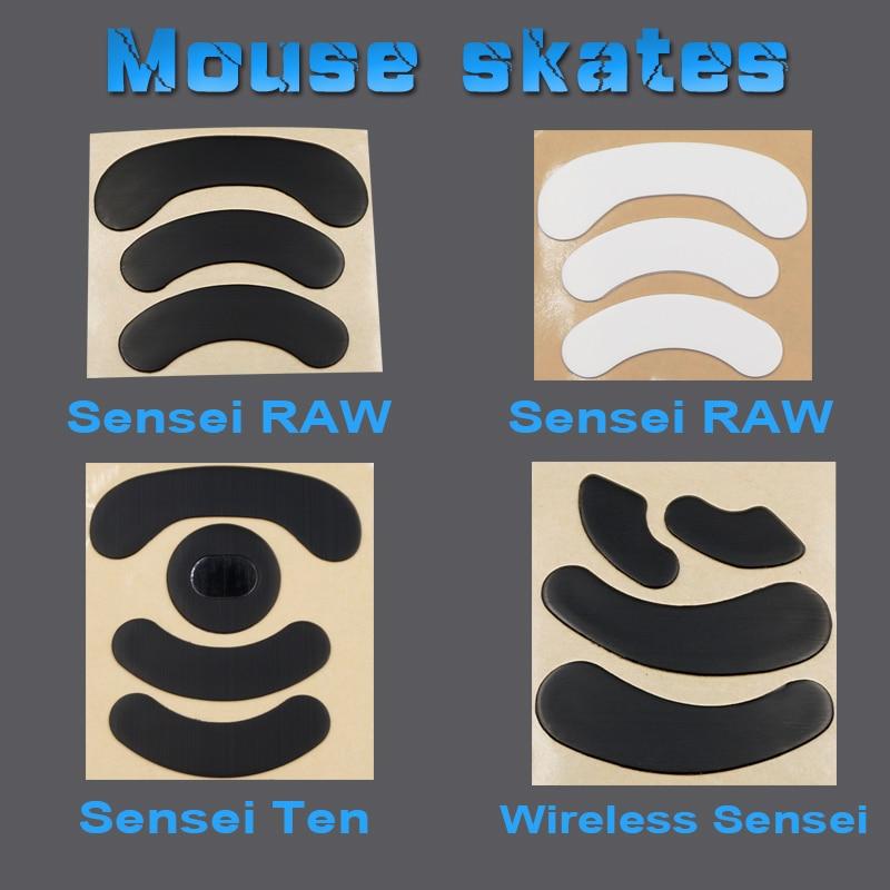 1PCS 3M Mouse Skates for steelseries Wireless Sensei TEN 310 RAW optical V2 XAI KANA Kinzu 0.6MM Gaming Feet Replace foot