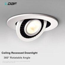 [DBF]360 degrés rotatif plafond encastré Spot lumière Dimmable 5W 7W 10W 15W 18W 3000K/4000K/6000K Spot lampe cuisine chambre