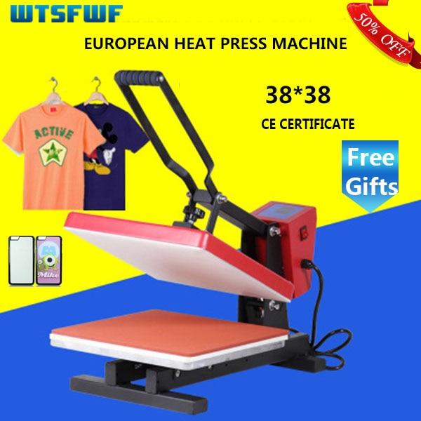 Fastshipping Wtsfwf 38*38 سنتيمتر الأوروبية الحرارة الصحافة آلة طابعة 2D طابعة حرارية ل بلايز حالات منصات الطباعة