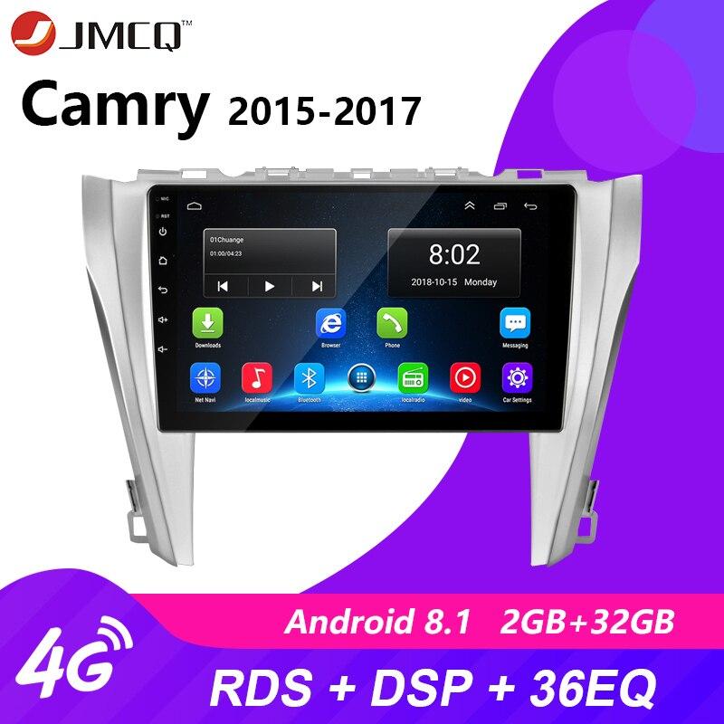 4G Wifi Android 8,1 Radio de coche para Toyota Camry 8 50 55 2012-2017 2G + 32G coche jugadores navegación GPS unidad + marco RDS DSP