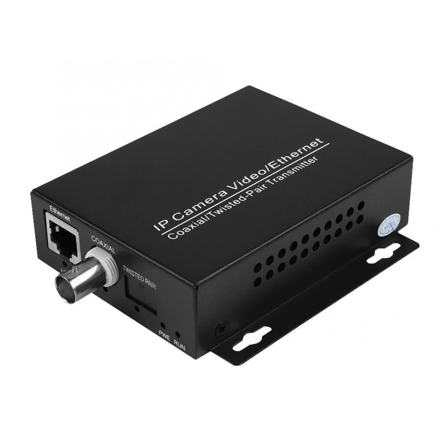 1Pair Ethernet IP Extender Over Coax HD Network Kit EoC Coaxial Cable Transmission Extender For CCTV Cameras enlarge