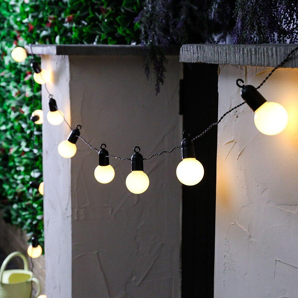 G50 и формирующая листы для кровли 4 м/5 м светодиодная 20 лампы строка светильник напольный Фея глобусы подвесной светильник сада Водонепрони...