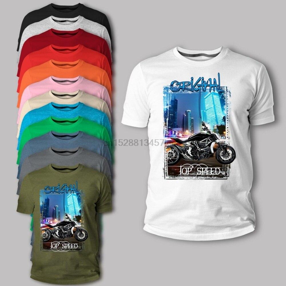 Itália clássico motocicleta motorrad monstro 696 796 diavel de carbono x cruiser schwarz manga curta t camisa design online