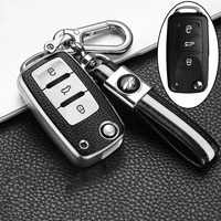leathertpu key protector car key cover case for polo tiguan passat b5 b6 b7 golf eos scirocco jetta mk6 octavia accessories