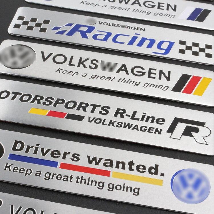 1 pçs abt sportling liga de alumínio adesivos corpo do carro tronco emblema acessórios para vw gti polo golf passat magotan estilo do carro
