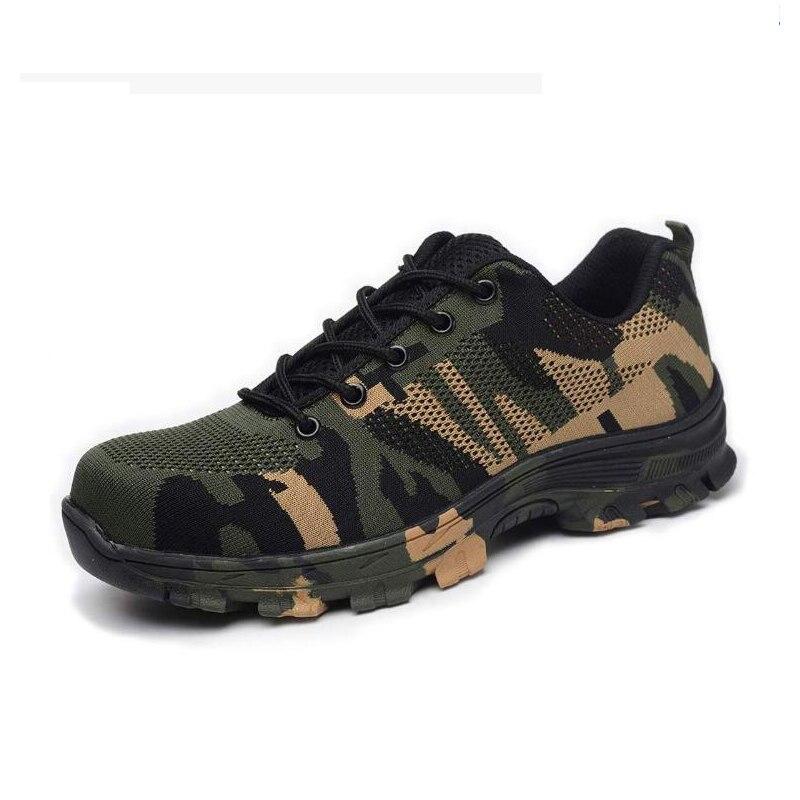 Zapatos de acero para trabajo, zapatos de seguridad para hombres y mujeres, ligeros, industriales y zapato de construcción, con estilo, transpirables, ligeros