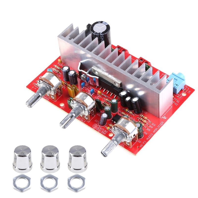 tda7293 rectifier filter plate diy assembled amplifier board TDA 7377 40w Car DIY Stereo Amplifier Power Board plate With Silver Button