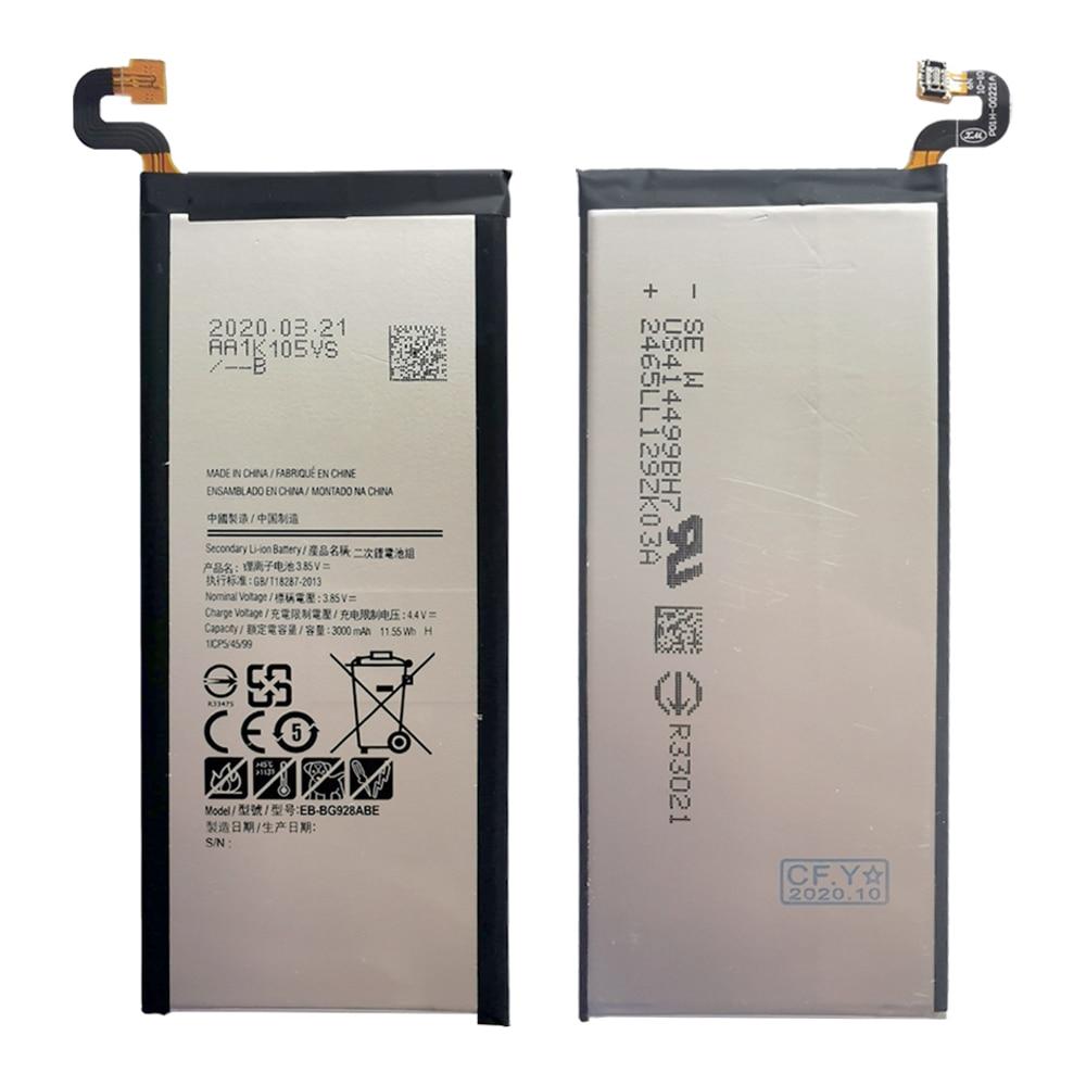 Оригинальный аккумулятор телефона S6 edge Plus Samsung Galaxy S6 edge Plus G928F G928A 3000 мА/ч, EB BG928ABE высокой емкости акумуляторная батарея