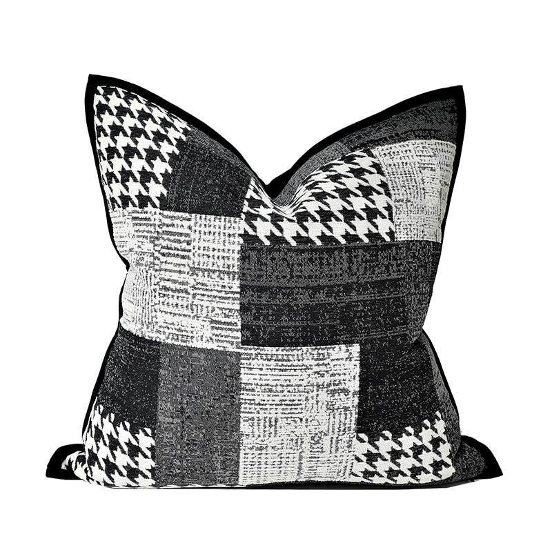 DUNXDECO чехол для подушки декоративные подушки Чехол класса люкс Винтаж чёрный шенилл