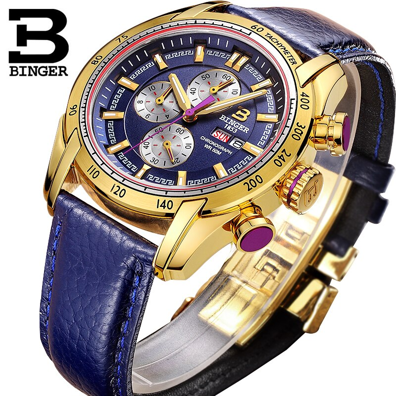 MITOTA Chronograph Sports Watch Waterproof Military Quartz Wristwatch BINGER Men Watches relogio masculino reloj hombre 2019